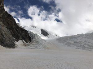 Sestup ledovcem Grenzgletscher